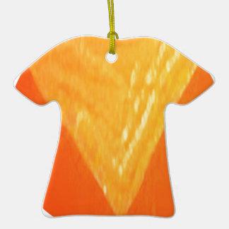 PLANTILLA de oro de los REGALOS de los saludos n Adorno De Cerámica En Forma De Camiseta