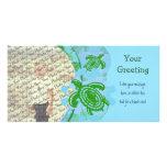 Plantilla de PhotoCard de las tortugas verdes Tarjeta Fotográfica