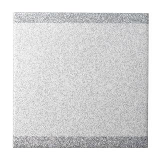 Plantilla de plata del espacio en blanco del azulejo cuadrado pequeño