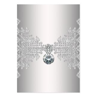 Plantilla de plata elegante de la tarjeta de tarjetas de visita grandes