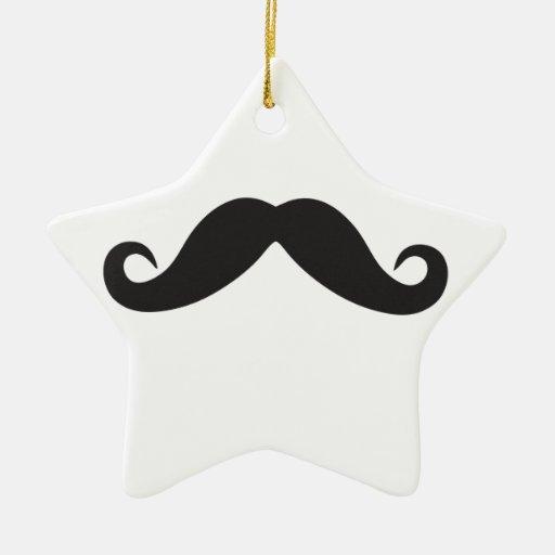 Plantilla de Qpc del bigote Ornamento De Navidad
