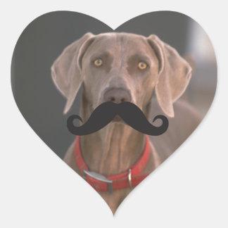 Plantilla de Qpc del bigote Calcomanía Corazón