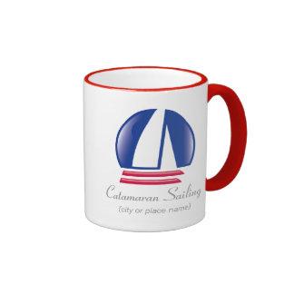 Plantilla de Sailing_Pontoon Racing_BlueMoon del c Tazas De Café