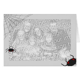 Plantilla de Spiderweb Tarjeta De Felicitación