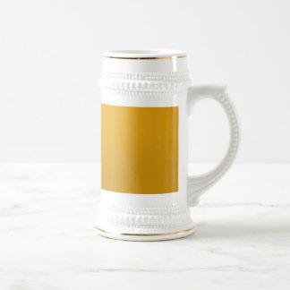 PLANTILLA de vuelta del espacio en blanco del oro Taza De Café