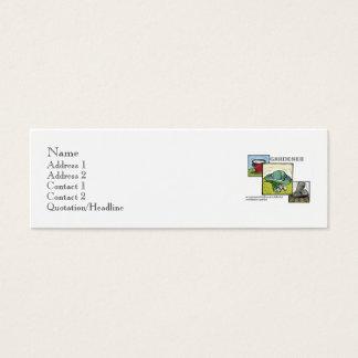 Plantilla definida jardinero tarjetas de visita mini