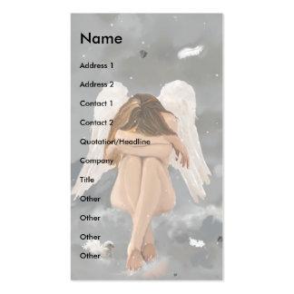Plantilla del ángel tarjeta de visita