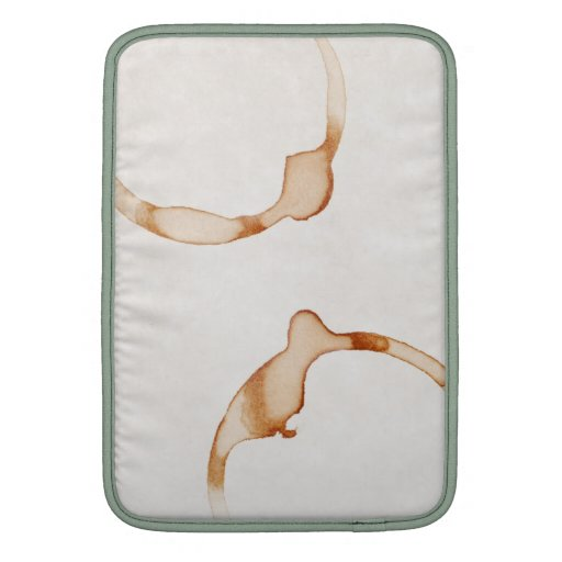 Plantilla del anillo de café - espacio en blanco m fundas macbook air
