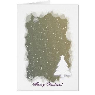 ¡Plantilla del árbol de navidad Tarjetas