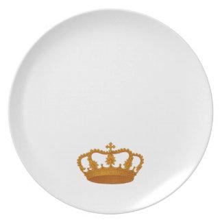 Plantilla del artículo del regalo de la corona del platos