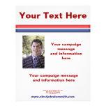 Plantilla del aviador de la campaña electoral de flyer personalizado