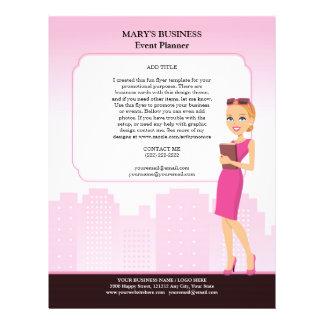 """Plantilla del aviador del negocio de las mujeres ( folleto 8.5"""" x 11"""""""