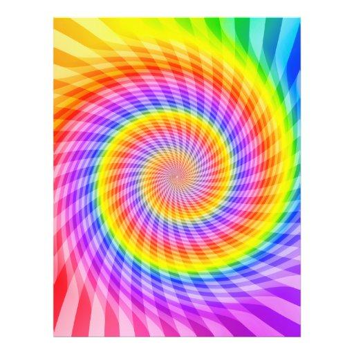 "Plantilla del aviador: Diseño espiral colorido Folleto 8.5"" X 11"""