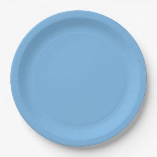 Plantilla del azul de cielo plato de papel 22,86 cm