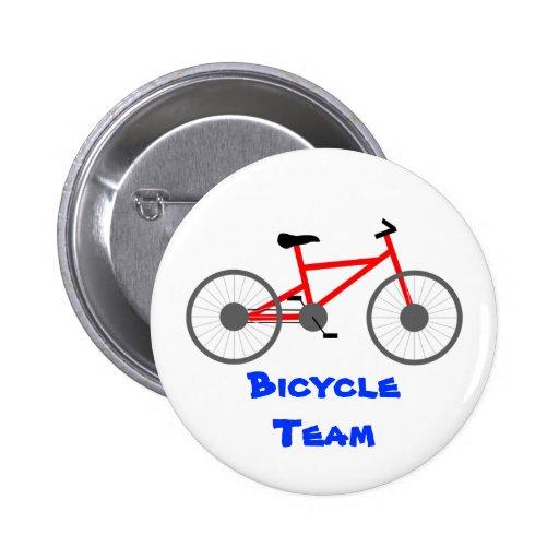 Plantilla del botón del equipo de la bicicleta pins
