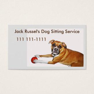 Plantilla del canguro del perro con el perrito del tarjetas de visita