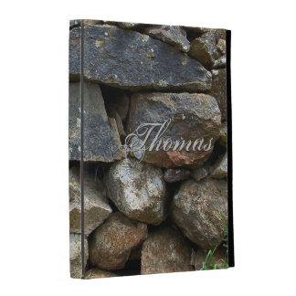 Plantilla del caso del iPad de la pared de piedra