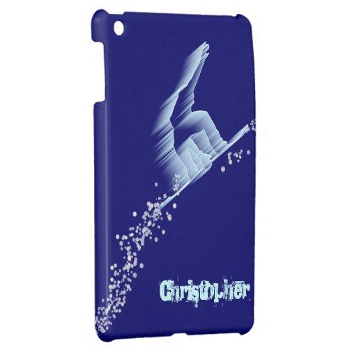 Plantilla del caso del iPad del Snowboarder mini iPad Mini Protectores