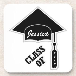 Plantilla del casquillo de la graduación posavasos