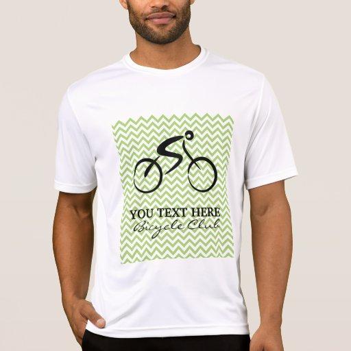 Plantilla del club de la bicicleta camiseta