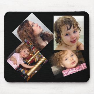 Plantilla del collage de cuatro fotos alfombrilla de raton