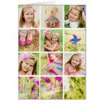 Plantilla del collage de la foto personalizada tarjeta de felicitación