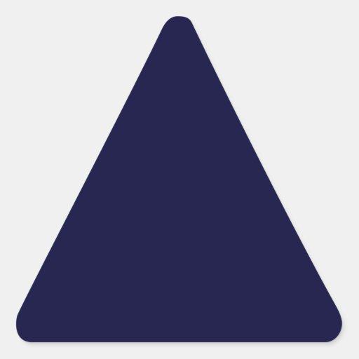Plantilla del color sólido de los azules marinos pegatina triangular