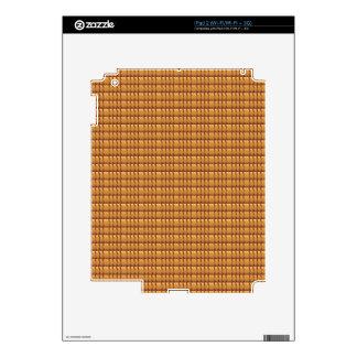 Plantilla del CRISTAL de Brown Calcomanías Para iPad 2