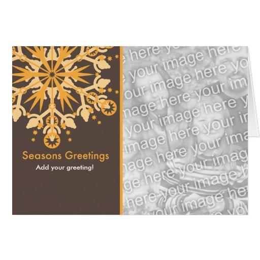 Plantilla del día de fiesta del copo de nieve tarjeta de felicitación