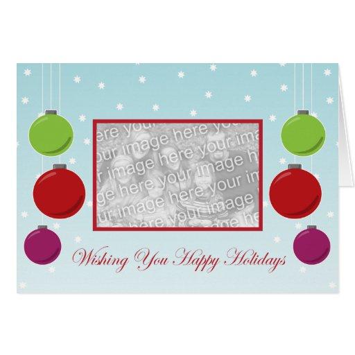 Plantilla del día de fiesta del ornamento del copo tarjeta de felicitación