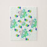 Plantilla del diseño del multicolor de la menta puzzle