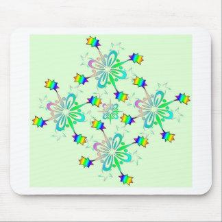 Plantilla del diseño del multicolor de la menta tapetes de raton