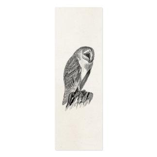 Plantilla del ejemplo del pájaro del búho de tarjetas de negocios