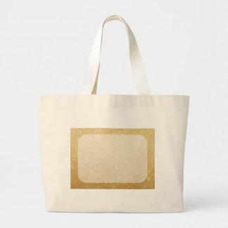 plantilla del espacio en blanco del brillo del oro bolsa tela grande