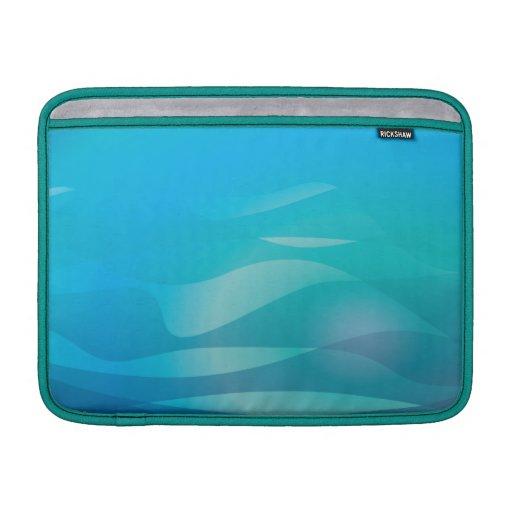 Plantilla del extracto del agua azul del trullo funda para macbook air