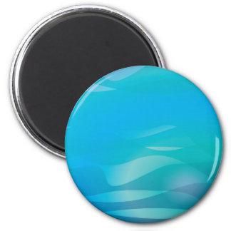 Plantilla del extracto del agua azul del trullo iman de frigorífico
