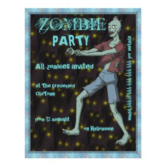 """Plantilla del fiesta del zombi para folleto 8.5"""" x 11"""""""