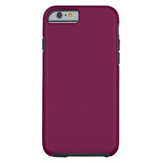 Plantilla del fondo de Borgoña del color sólido Funda De iPhone 6 Tough