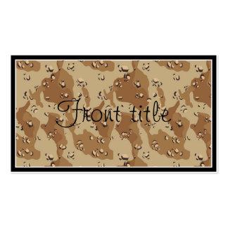 Plantilla del fondo del camuflaje del desierto plantilla de tarjeta personal