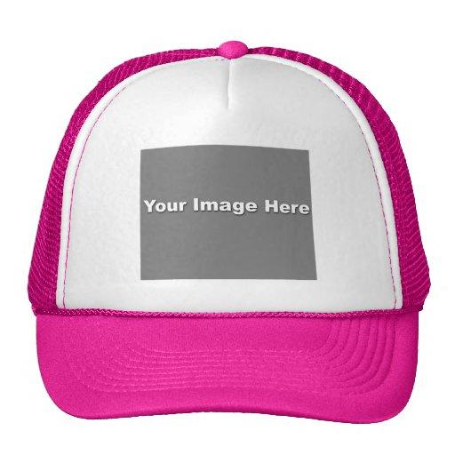Plantilla del gorra del camionero de las rosas fue