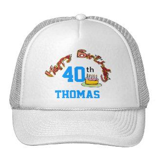 Plantilla del gorra del feliz cumpleaños