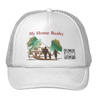 Plantilla del gorra mis bienes raices caseros