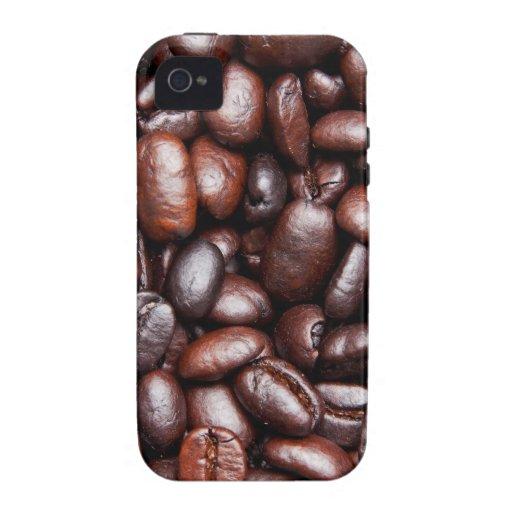 Plantilla del grano de café - espacio en blanco mo Case-Mate iPhone 4 fundas