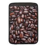 Plantilla del grano de café - espacio en blanco mo funda macbook air
