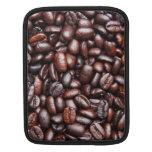 Plantilla del grano de café - espacio en blanco mo funda para iPads