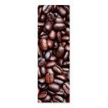Plantilla del grano de café - habas oscuras tarjetas de visita mini