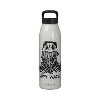 Plantilla del hippy botellas de agua reutilizables