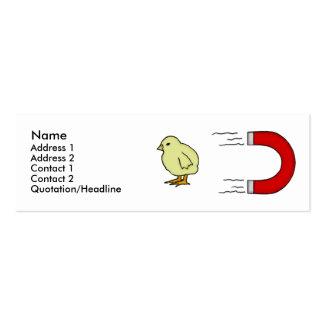 Plantilla del imán del polluelo tarjetas de visita mini