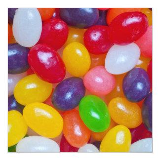 Plantilla del Jellybean de Pascua de las habas de Invitaciones Personales