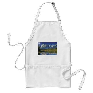 Plantilla del lago mountain de Teton Delantal